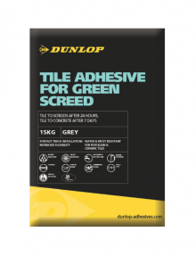 Dunlop's Tile Adhesive For Green Screed gives time back to the tradesmen!