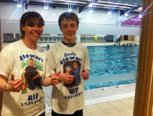Local mother and son to take on sponsored swim for St Barnabas Hospice