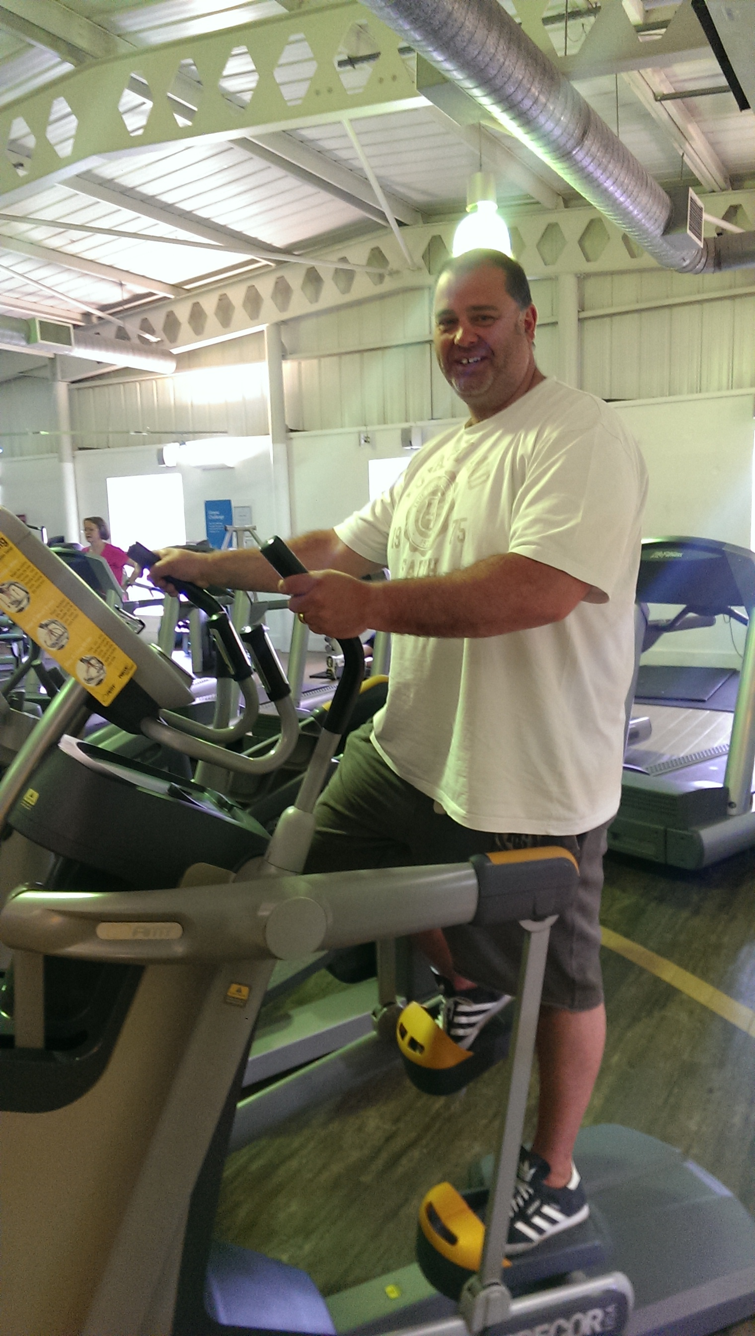 Nigel set him self a challenge to lose one stone in one month