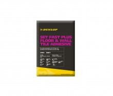 Dunlop's Set Fast Plus Floor & Wall Tile Adhesive helps merchants to meet demand