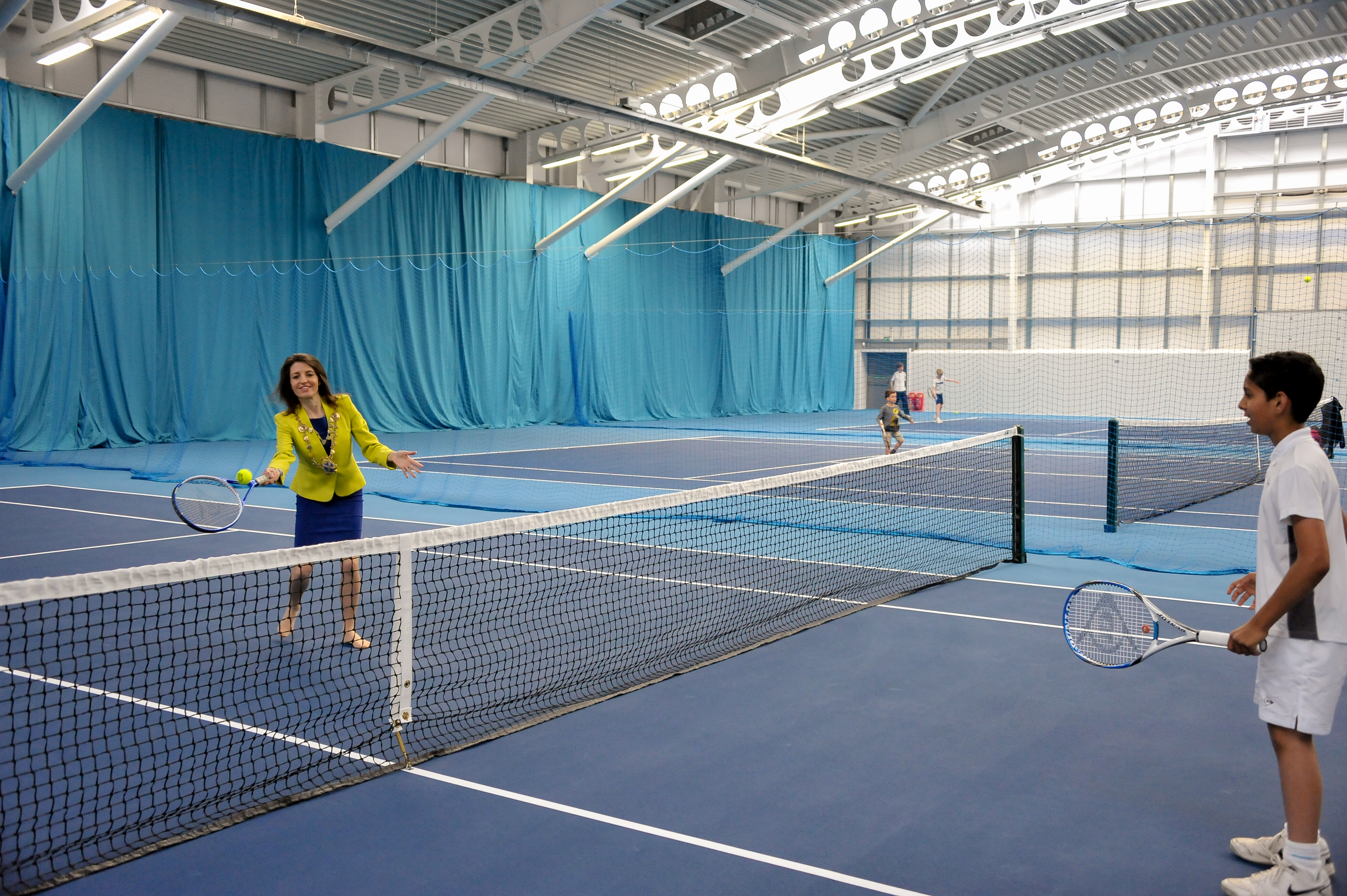 There is a £5 cost for the tennis event with all the proceeds going directly to Rally for Bally