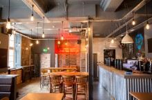 BrewDog Dundee seating by the bar