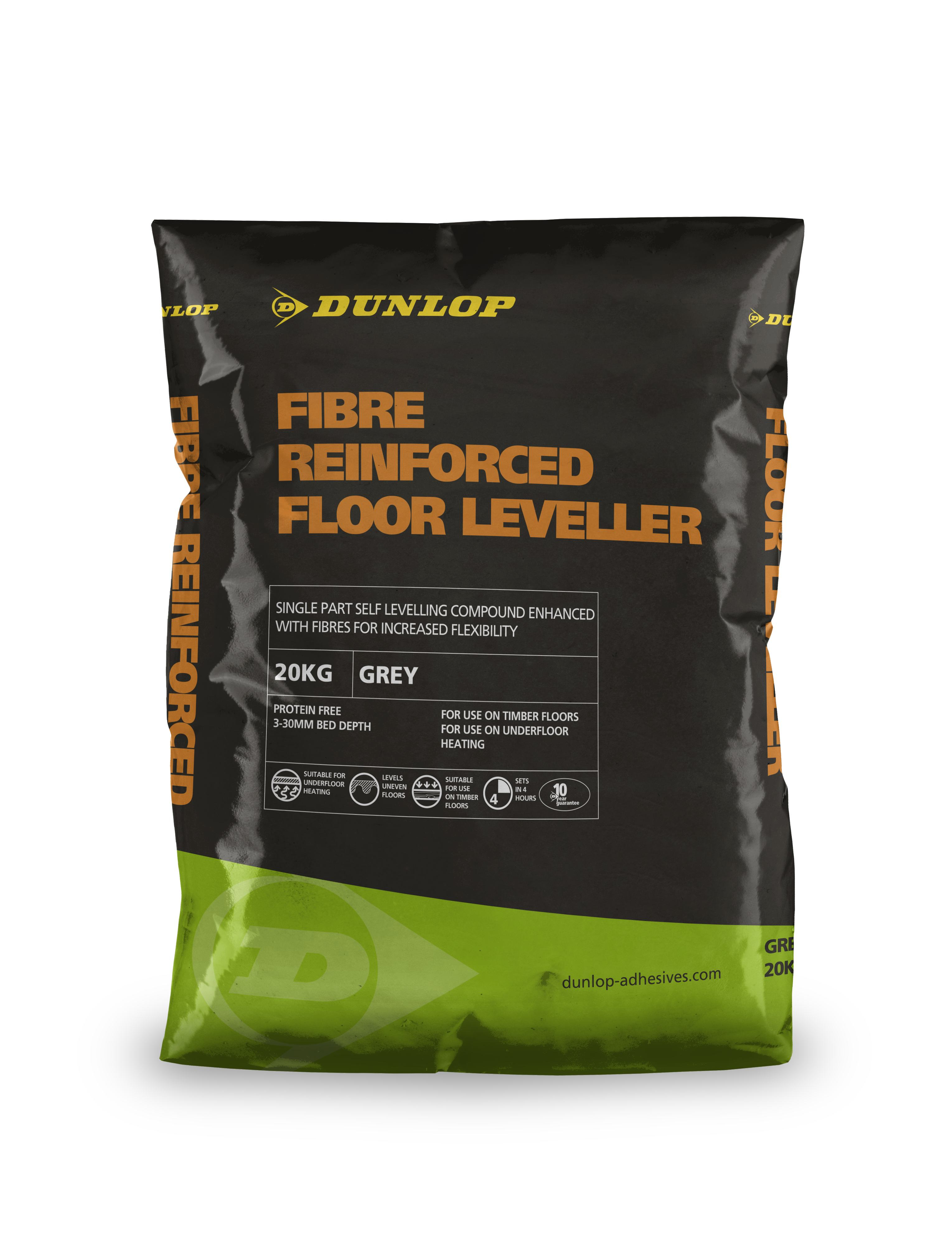 Fibre Reinforced Levelling Compound sets in three to four hours