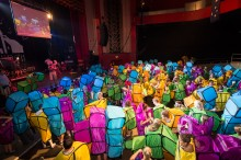 Block Party: Morph Costumes makes costume history by setting new human Tetris® world record