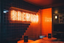 Neon sign at BrewDog Clapham Junction