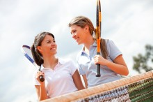 A treat for future tennis stars at Batchwood Golf Course & Sports Centre