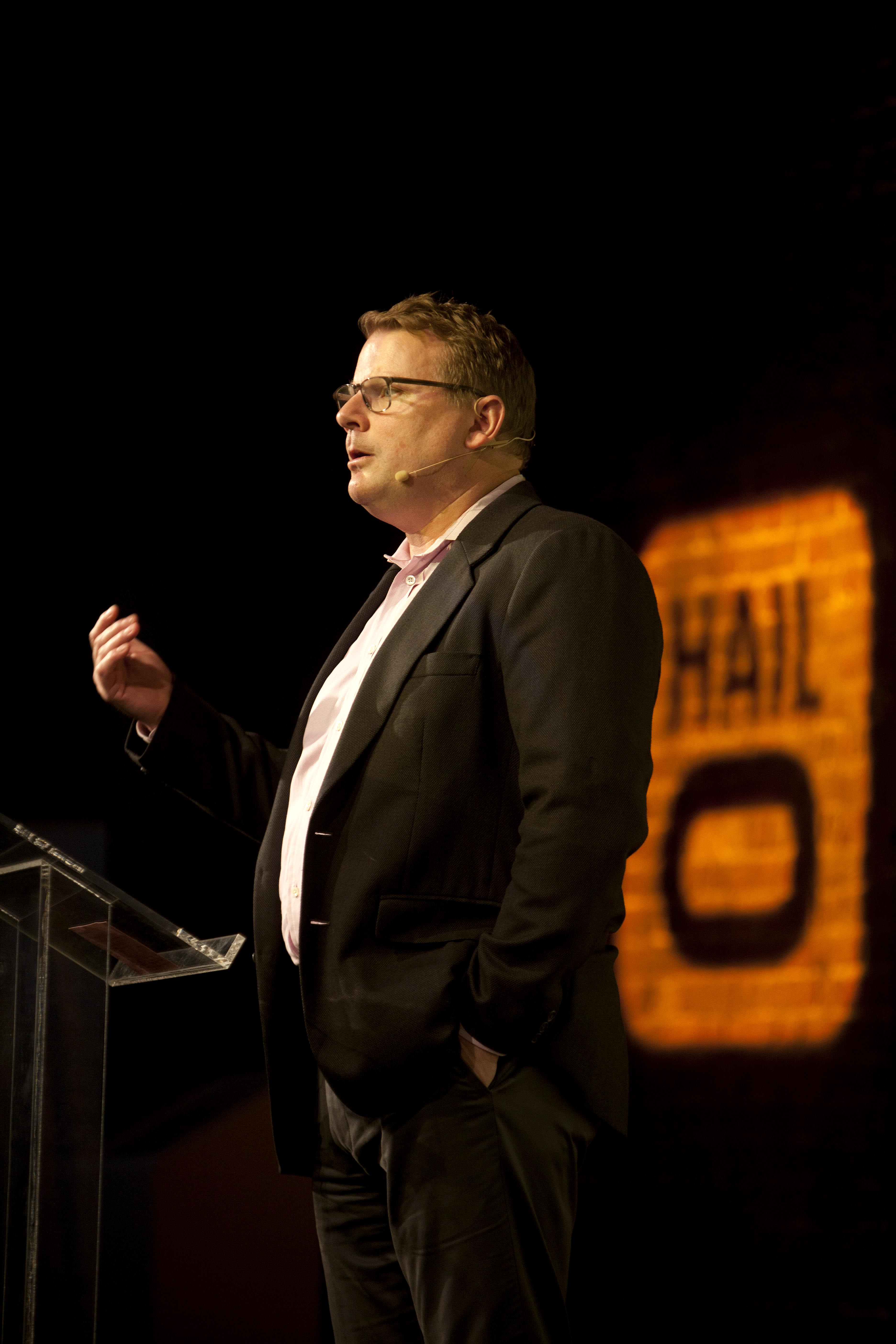 Hailo CEO Tom Barr, speaking at FutureLondon conference