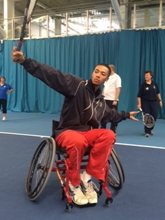 The coaches at Batchwood recently attended a disability tennis course