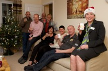 Neighbours at Keighley housing development get together to spread festive cheer