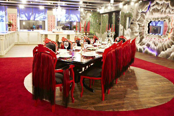 Red And Black Dining Table