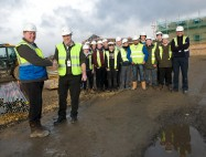 Local apprentices visit local housing development to gain on-site experience
