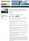 Paul Cluver Wines celebrate triple trophy success at the Decanter World Wine Awards - Wine.co.za