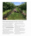 Somerset Life - First International Win for Vineyards
