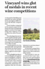 Sussex Express - Vineyard wins glut of medals