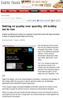 Taipei Times - Betting on quality over quantity, UK bubbly set to rise - Part 2