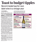 Toast to budget tipples - The Daily Mail (Scotland)