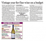 Vintage year for fine wine on a budget - Daily Mail