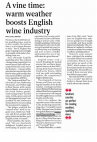 Warm weather boosts English wine industry - The Independent