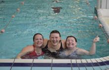Local ladies swim 5k to raise money for charity!