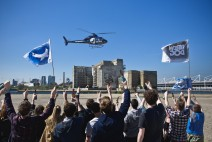 BrewDog took to the skies to drop 'fat cat' shares over London