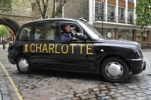 Leading taxi app, Hailo, introduces celebratory cabs to welcome Princess Charlotte. The cab app has given its logo a royal baby facelift and emblazoned the princess's name on a number of its cabs.