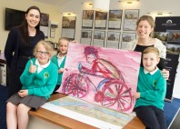 On your bike! Children from Ashfield Primary School named winners of David Wilson Homes' Tour de Yorkshire art competition