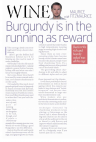 Burgundy is in the running as reward - The Daily Mirror