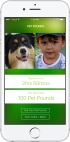 How PetPounds works on a smartphone