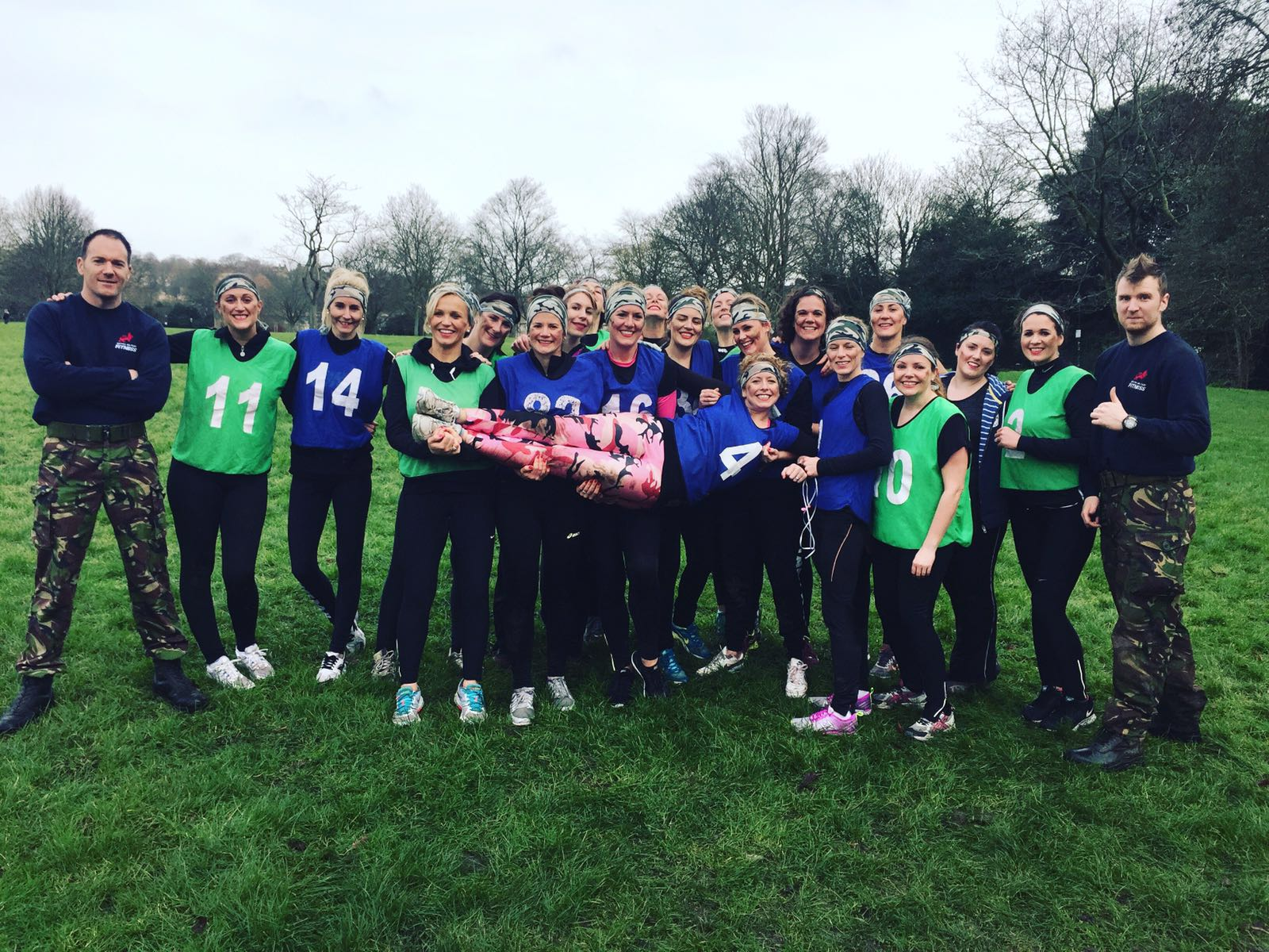 The group turned the typical hen do on its head to take part in a military style fitness session