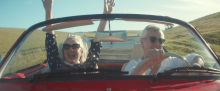 The advert takes viewers on an emotional journey with a charming older couple who find a red convertible Volkswagen Karmann Ghia using the Gumtree mobile app, and imagine what adventures the car could bring to them.