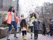 Let It Rain! British fashion brand Joules brings colorful rain to the streets of New York to mark international expansion