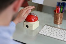 Tap Out Button - the must-have desk accessory