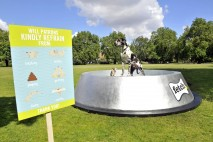 Super bowl: Fetch builds giant dog bowl to keep dogs hydrated in summer