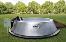 Dog owners are invited to enjoy the giant dog bowl with their dogs in South London