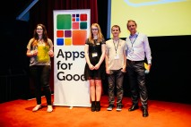 Tech talent: Three students from Bridgwater & Taunton College  come out on top in Productivity Category at the Apps for Good Awards