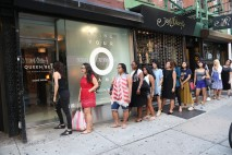 Crowds eagerly waiting for NYC's orgasm pop up to open its doors