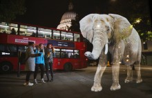 Life-sized elephant hologram spotted in London