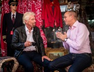 Richard Branson and Shai Weiss in Israel