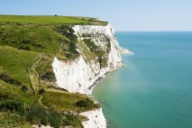 White Cliffs of Dover on a clear sunny day